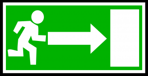 emergency, exit, green