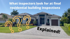 What do inspectors look in a new home